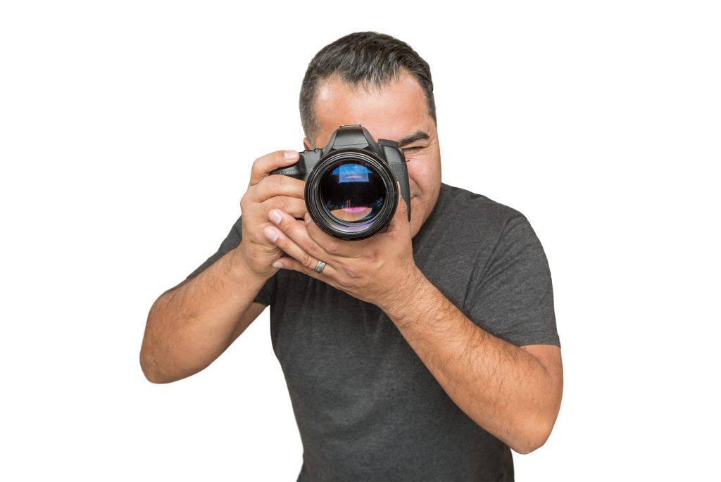 Hispanic male photographer
